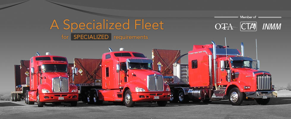 A Specialized Fleet for Specialized Radioactive Transportation Requirements in Canada and the USA.